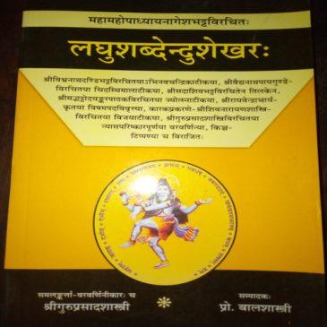 Laghusabdendusekhar-Sri Guruprasad Sastri.