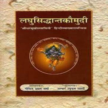 Laghusiddhantkaumudi-Govinda Prasad Sarma